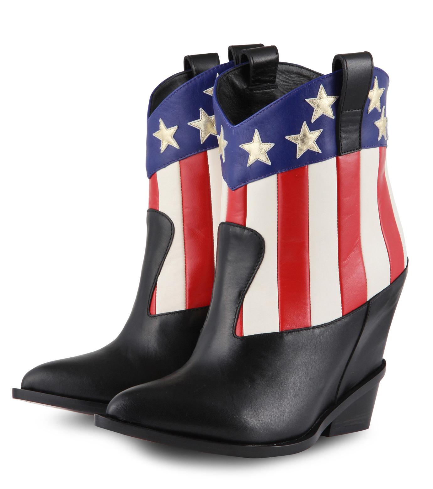 Giuseppe Zanotti Design(ジュゼッペザノッティ)のAmerican Flag Western Boots-MULTI COLOUR(ブーツ/boots)-E37042-9 拡大詳細画像3