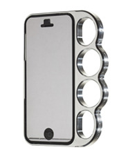 knuckle case Classic Silver for iPhone5