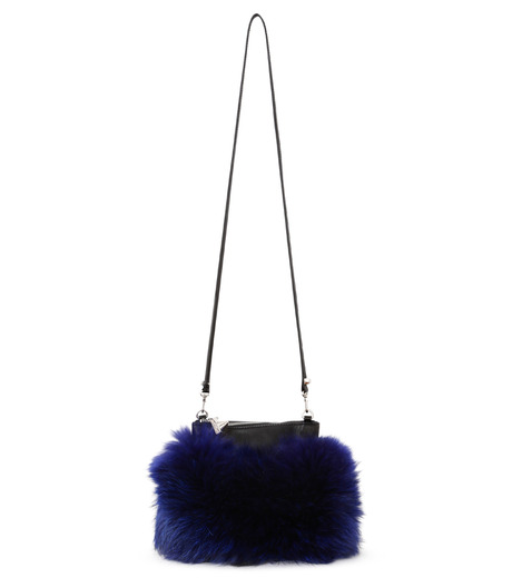 Emm Kuo(エムクオ)のfur flat bag-BLUE(ショルダーバッグ/shoulder bag)-EK02204D-92 詳細画像1