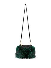 Emm Kuo(エムクオ) fur flat bag