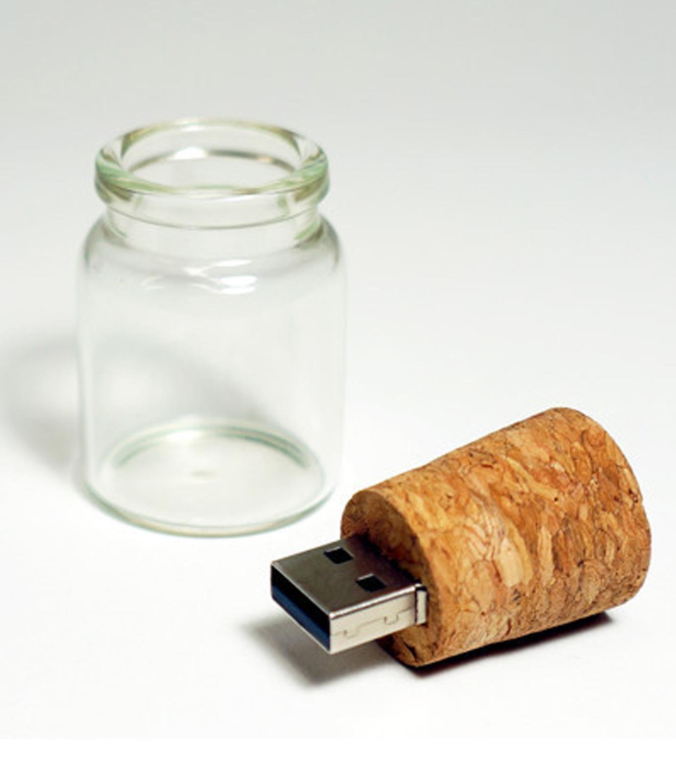WAKU()のMessage in A Bottle 4GB USB Flashdri-BEIGE(ガジェット/gadgets)-EMS006-52 拡大詳細画像2