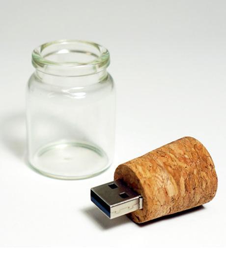 WAKU()のMessage in A Bottle 4GB USB Flashdri-BEIGE(ガジェット/gadgets)-EMS006-52 詳細画像2