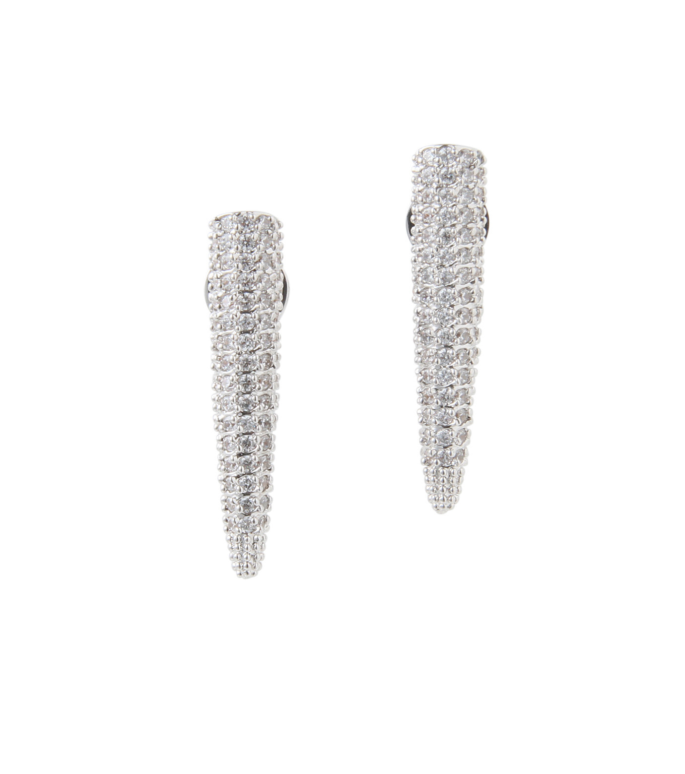 Eddie Borgo(エディ・ボルゴ)のMINI PAVE SPIKE EARRING-SILVER-ER1604P-R-1 拡大詳細画像1