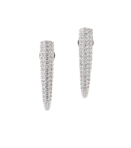 Eddie Borgo(エディ・ボルゴ)のMINI PAVE SPIKE EARRING-SILVER-ER1604P-R-1 詳細画像1