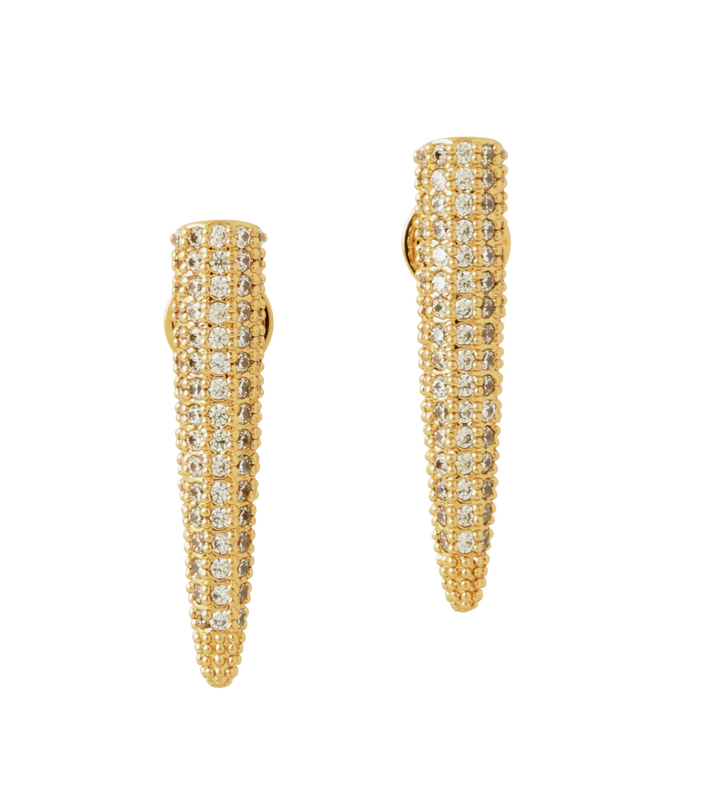 Eddie Borgo(エディ・ボルゴ)のMINI PAVE SPIKE EARRING-GOLD-ER1604P-R-2 拡大詳細画像1