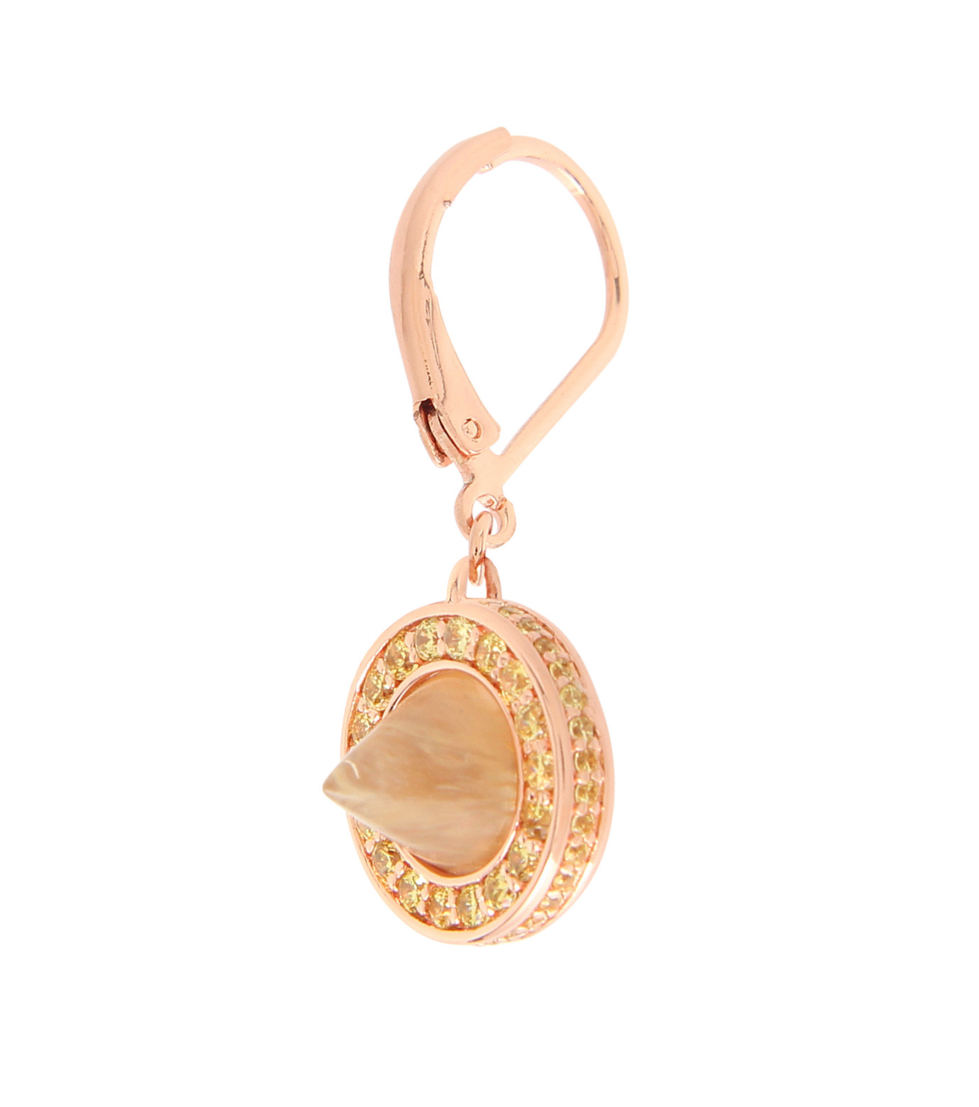 Eddie Borgo(エディ・ボルゴ)のFrench Clip Cone Day Drop Earring-BROWN-ER1843P-42 拡大詳細画像2