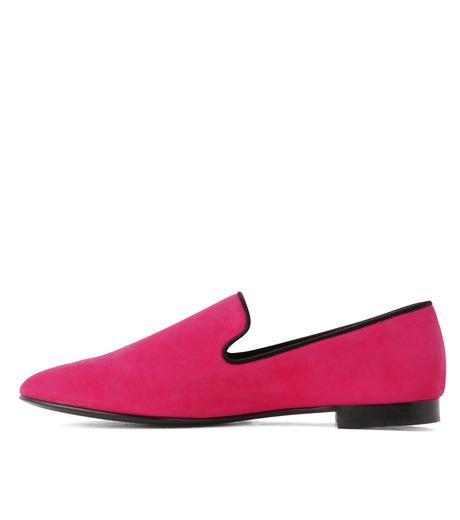Giuseppe Zanotti Design(ジュゼッペザノッティ)のSuede Slipon-PINK(シューズ/shoes)-EU4010-CA5-72 詳細画像2