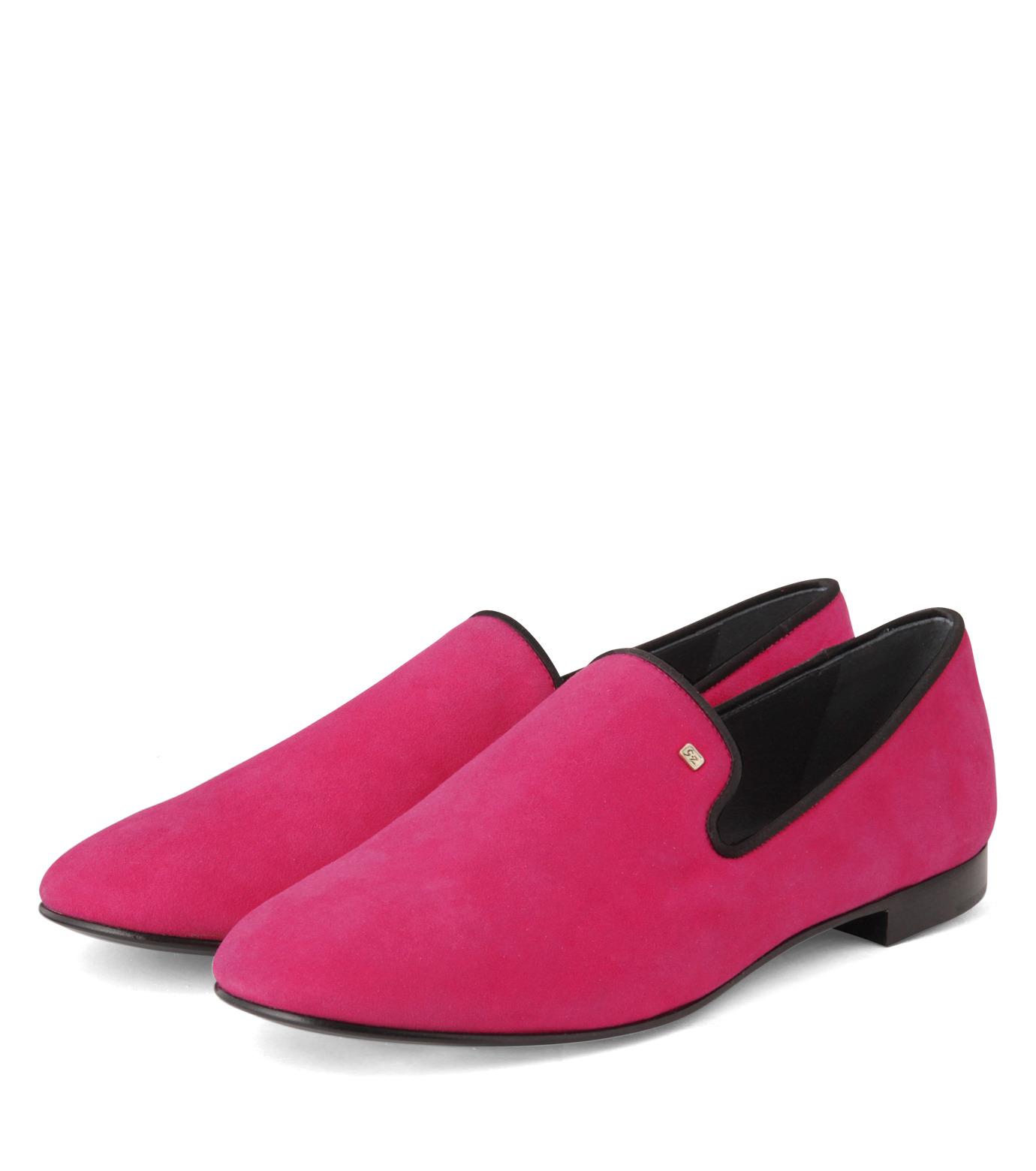 Giuseppe Zanotti Design(ジュゼッペザノッティ)のSuede Slipon-PINK(シューズ/shoes)-EU4010-CA5-72 拡大詳細画像4