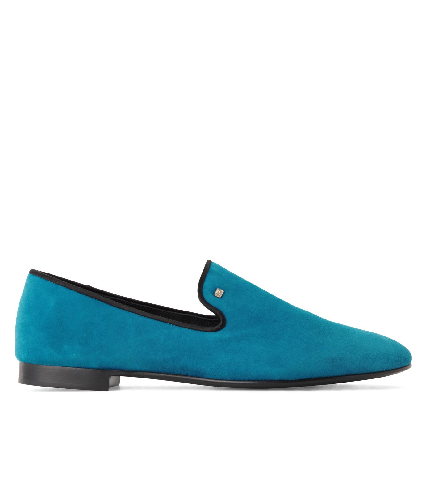 Giuseppe Zanotti Design(ジュゼッペザノッティ)のSuede Slipon-BLUE(シューズ/shoes)-EU4010-CA5-92 拡大詳細画像1