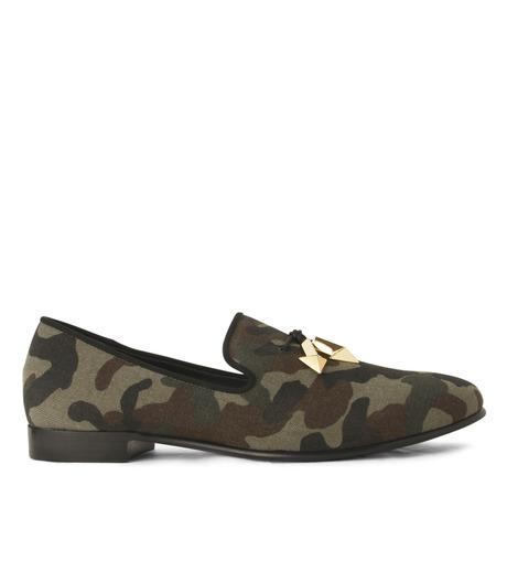Giuseppe Zanotti Design(ジュゼッペザノッティ)のCamoflage Loafer-GREEN(シューズ/shoes)-EU5023JP-T-22 詳細画像1