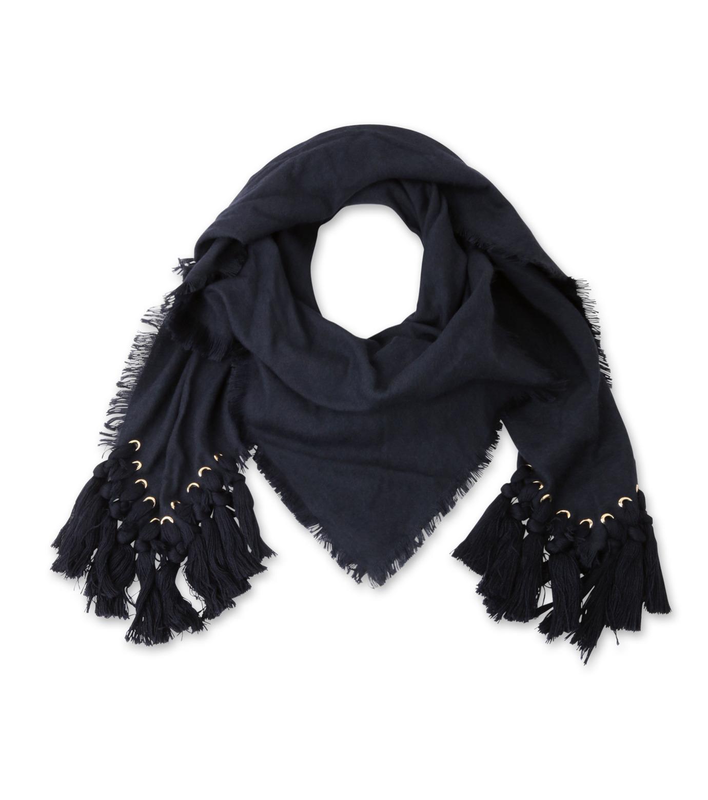Chloe(クロエ)のpompon scarf-NAVY(ストール/stole)-F057PQ5B-93 拡大詳細画像1