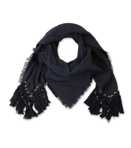 Chloe(クロエ)のpompon scarf-NAVY(ストール/stole)-F057PQ5B-93 詳細画像1
