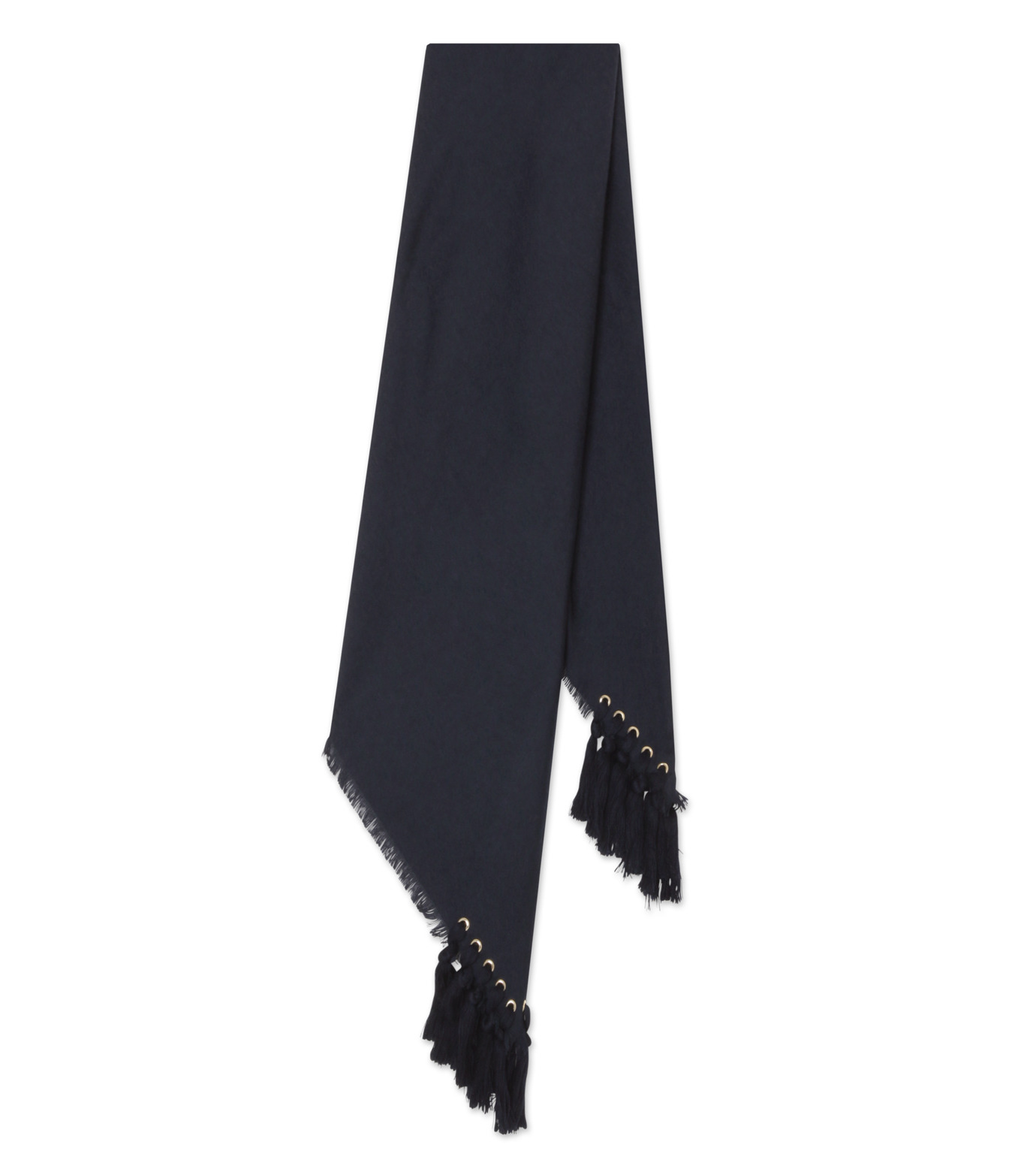 Chloe(クロエ)のpompon scarf-NAVY(ストール/stole)-F057PQ5B-93 拡大詳細画像2