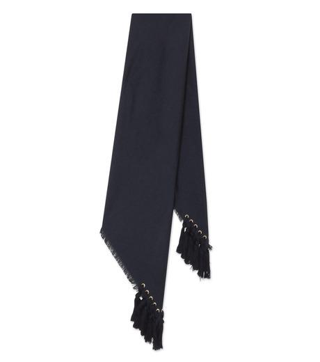 Chloe(クロエ)のpompon scarf-NAVY(ストール/stole)-F057PQ5B-93 詳細画像2