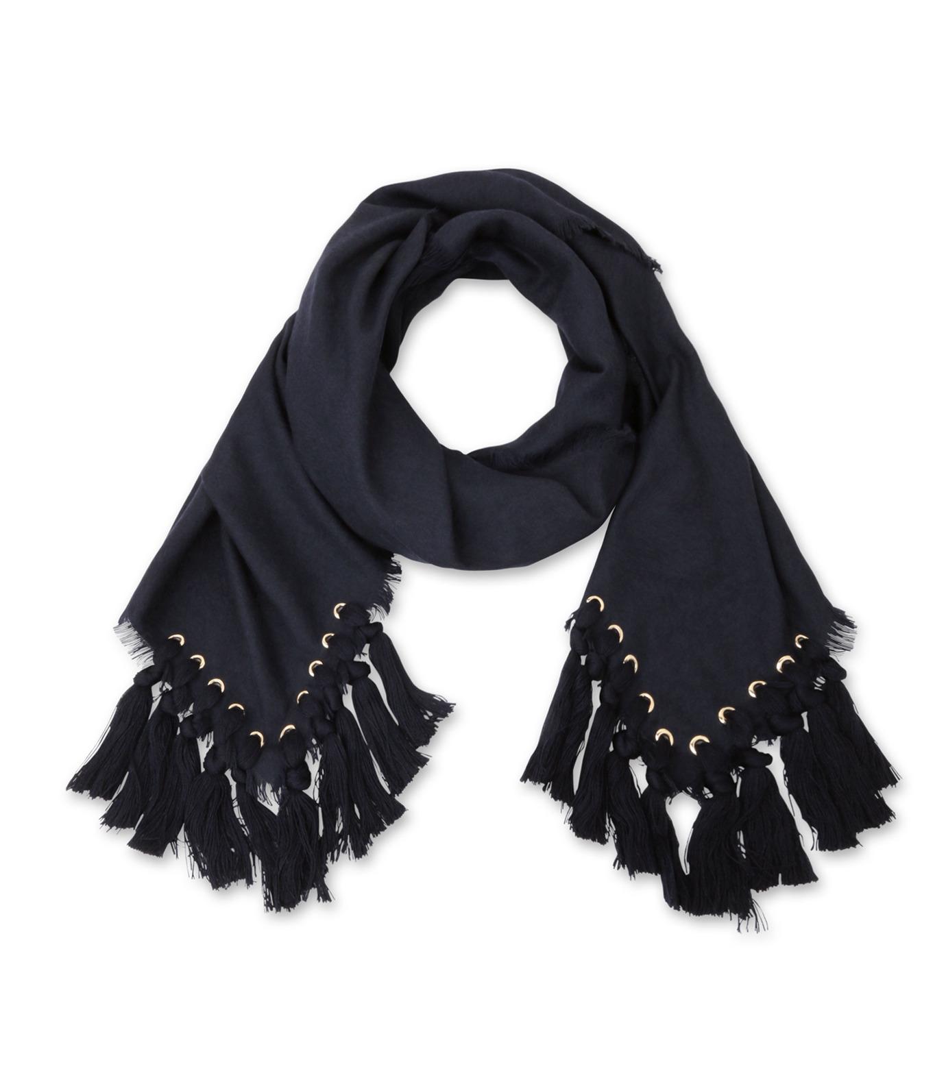 Chloe(クロエ)のpompon scarf-NAVY(ストール/stole)-F057PQ5B-93 拡大詳細画像3