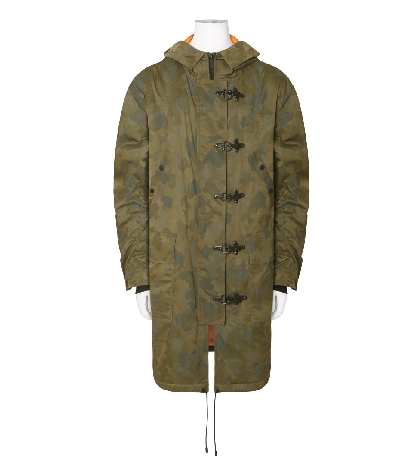 Public School(パブリックスクール)のCamo Hoodie Coat-GREEN(コート/coat)-F16M018-22 拡大詳細画像1