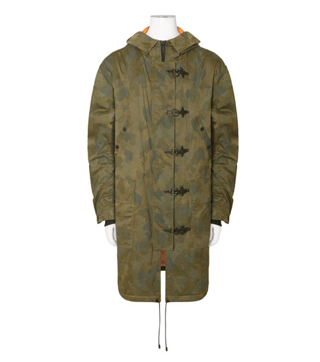 Public School(パブリックスクール)のCamo Hoodie Coat-GREEN(コート/coat)-F16M018-22 詳細画像1