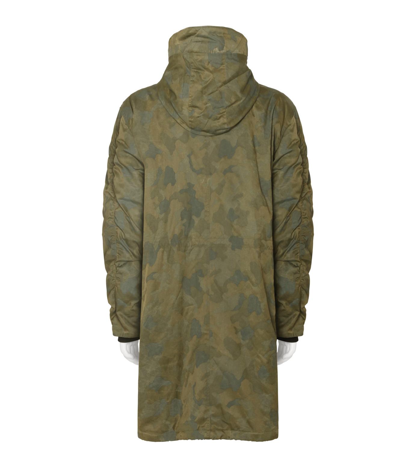 Public School(パブリックスクール)のCamo Hoodie Coat-GREEN(コート/coat)-F16M018-22 拡大詳細画像2