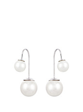 Fallon Double Ball Pearl U Hook Earring