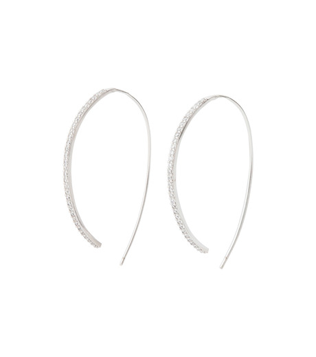 Fallon(ファロン)のPave Threaded Hoops-SILVER-FE11626-1 詳細画像1