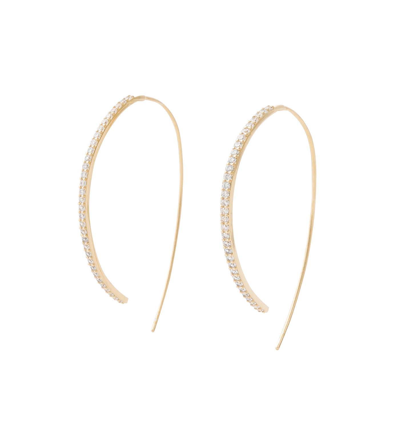 Fallon(ファロン)のPave Threaded Hoops-GOLD-FE11626-2 拡大詳細画像1