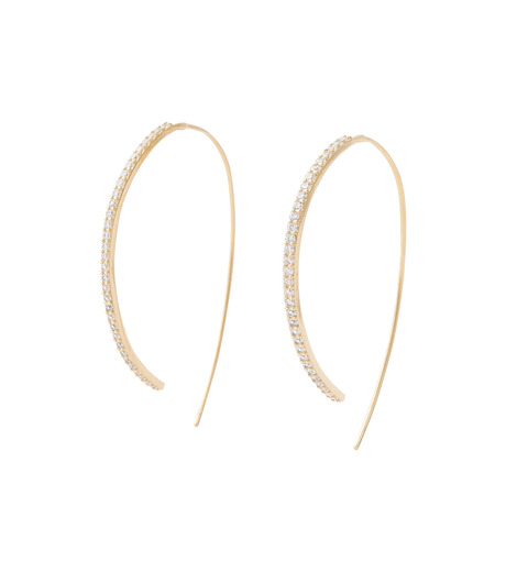Fallon(ファロン)のPave Threaded Hoops-GOLD-FE11626-2 詳細画像1