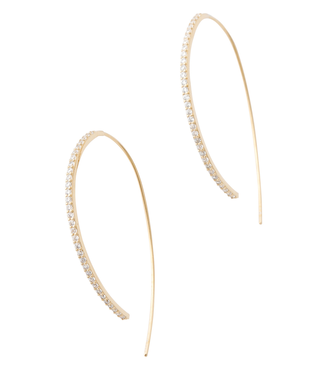 Fallon(ファロン)のPave Threaded Hoops-GOLD-FE11626-2 拡大詳細画像2