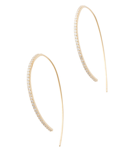 Fallon(ファロン)のPave Threaded Hoops-GOLD-FE11626-2 詳細画像2