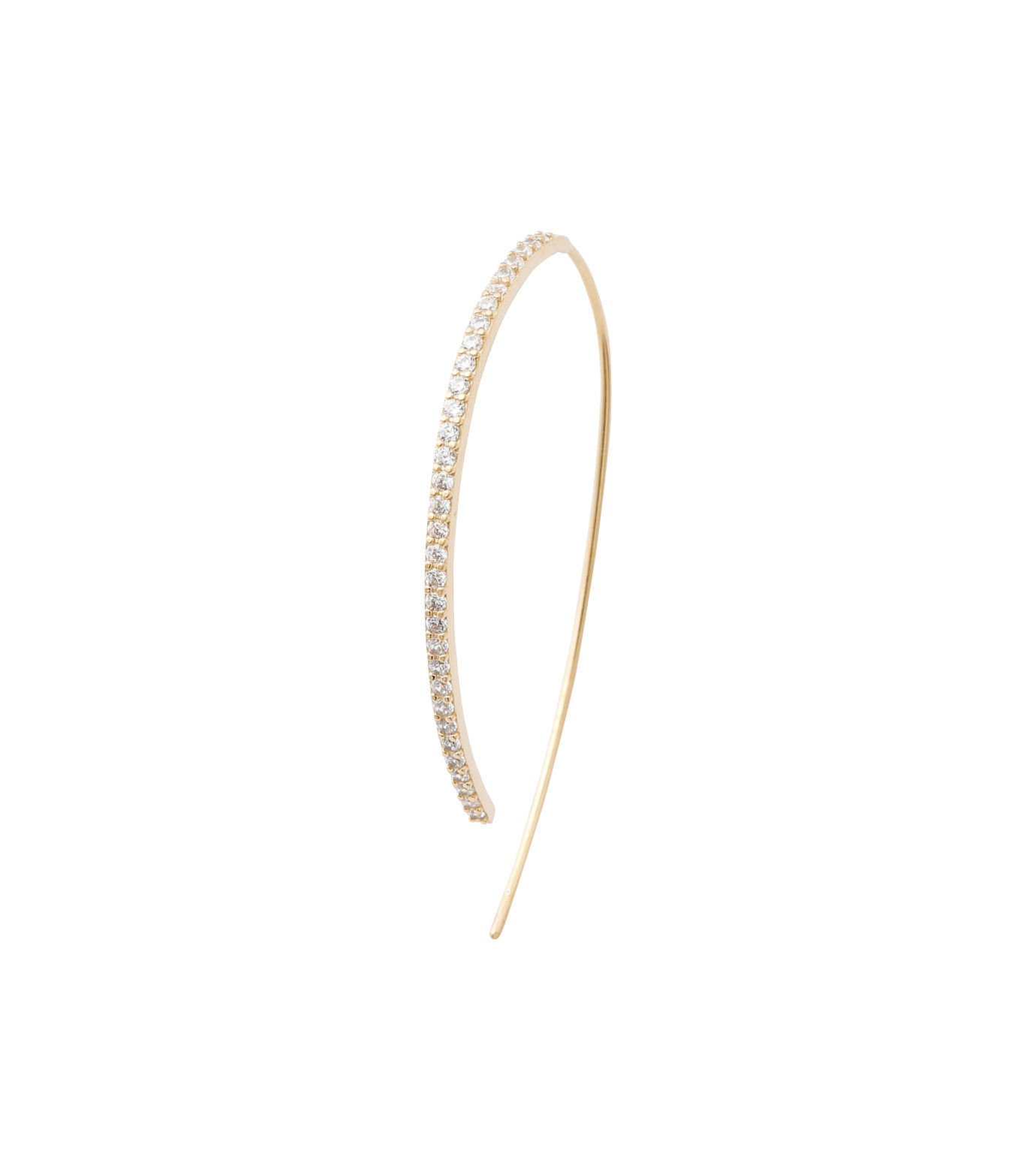 Fallon(ファロン)のPave Threaded Hoops-GOLD-FE11626-2 拡大詳細画像3
