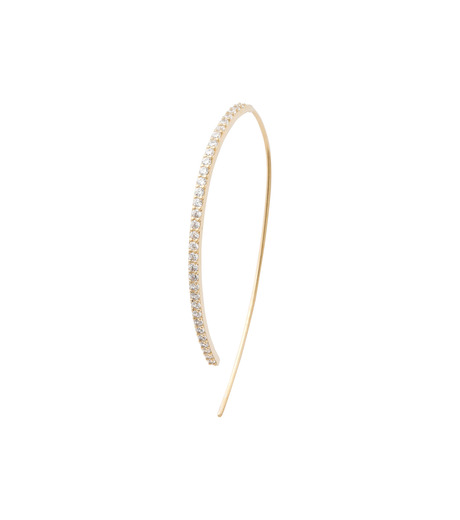 Fallon(ファロン)のPave Threaded Hoops-GOLD-FE11626-2 詳細画像3