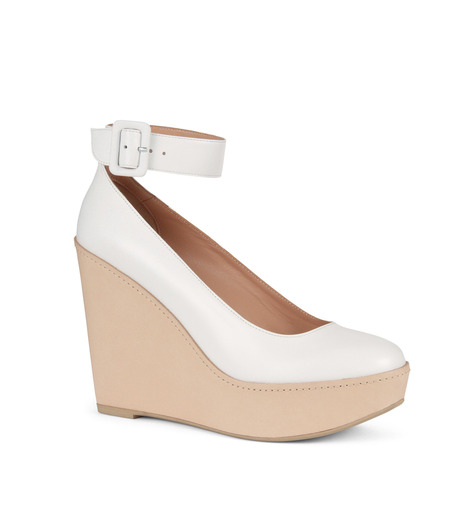 Robert Clergerie(ロベール・クレジュリー)のWedge Pump Ankle Strap-WHITE(パンプス/pumps)-FERDIE-4 詳細画像1