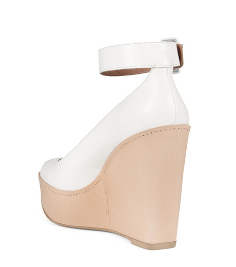 Robert Clergerie(ロベール・クレジュリー)のWedge Pump Ankle Strap-WHITE(パンプス/pumps)-FERDIE-4 詳細画像2