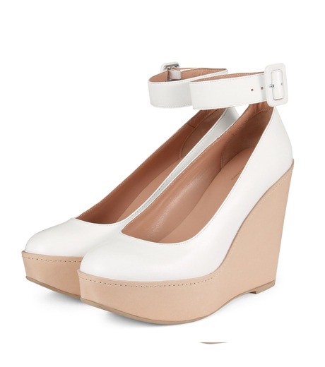Robert Clergerie(ロベール・クレジュリー)のWedge Pump Ankle Strap-WHITE(パンプス/pumps)-FERDIE-4 詳細画像3