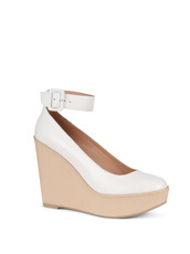 Robert Clergerie Wedge Pump Ankle Strap