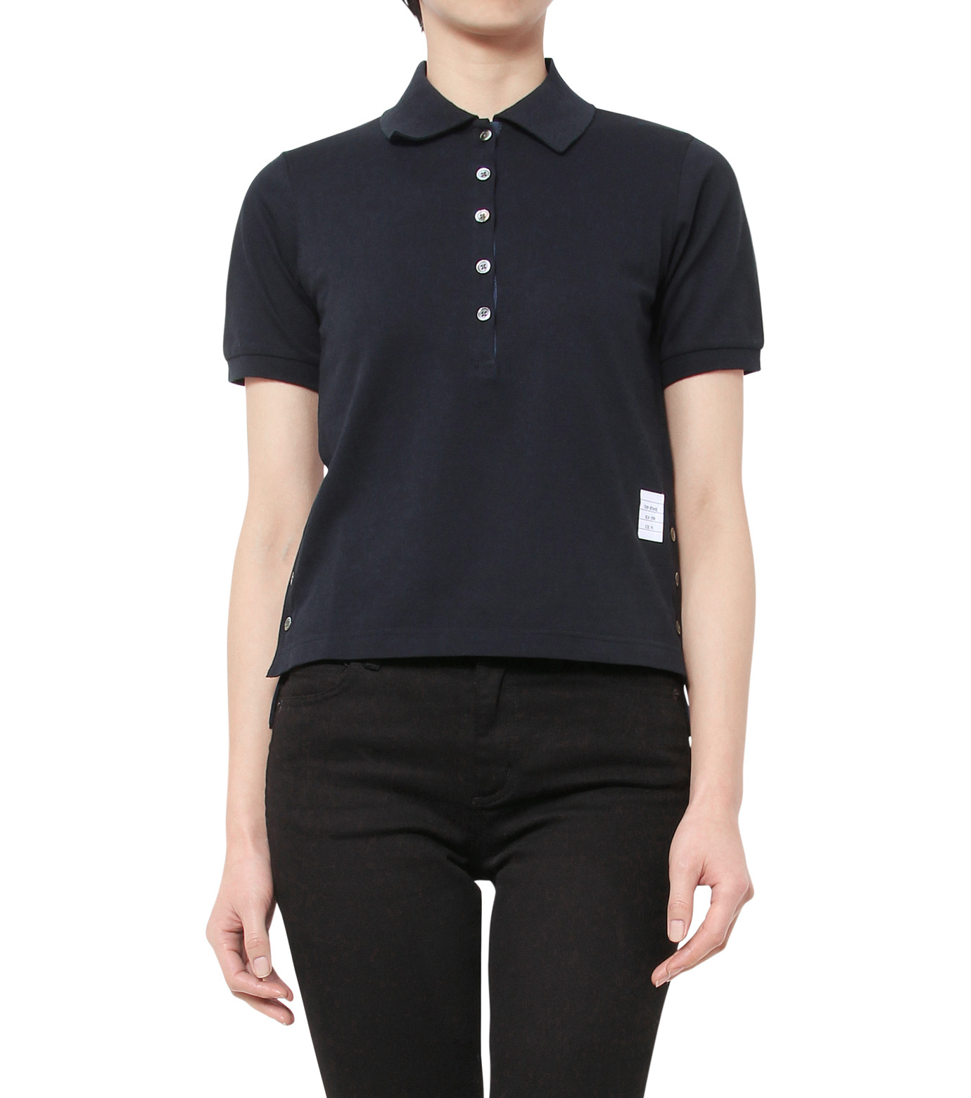Thom Browne(トムブラウン)のPolo Shirt-NAVY(カットソー/cut and sewn)-FJP002A00047-93 拡大詳細画像1