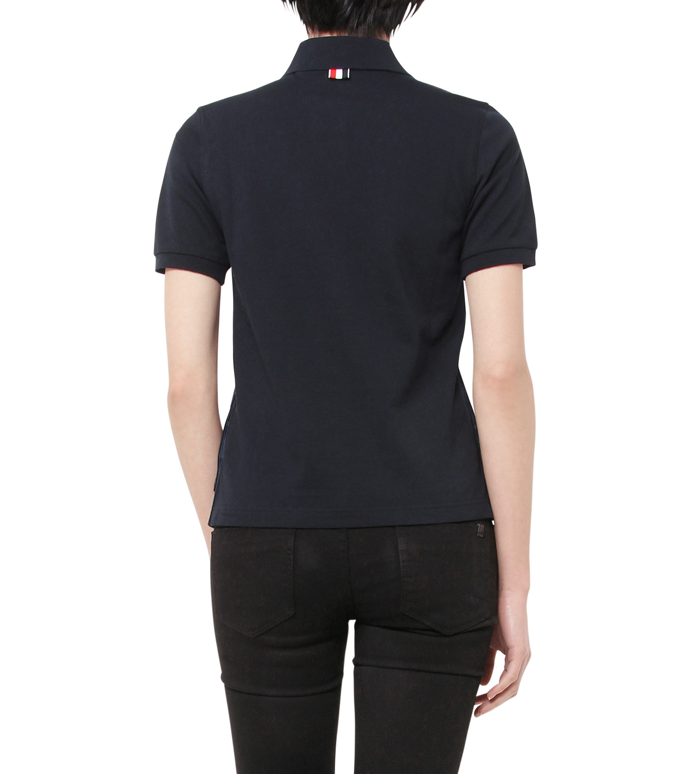 Thom Browne(トムブラウン)のPolo Shirt-NAVY(カットソー/cut and sewn)-FJP002A00047-93 拡大詳細画像2