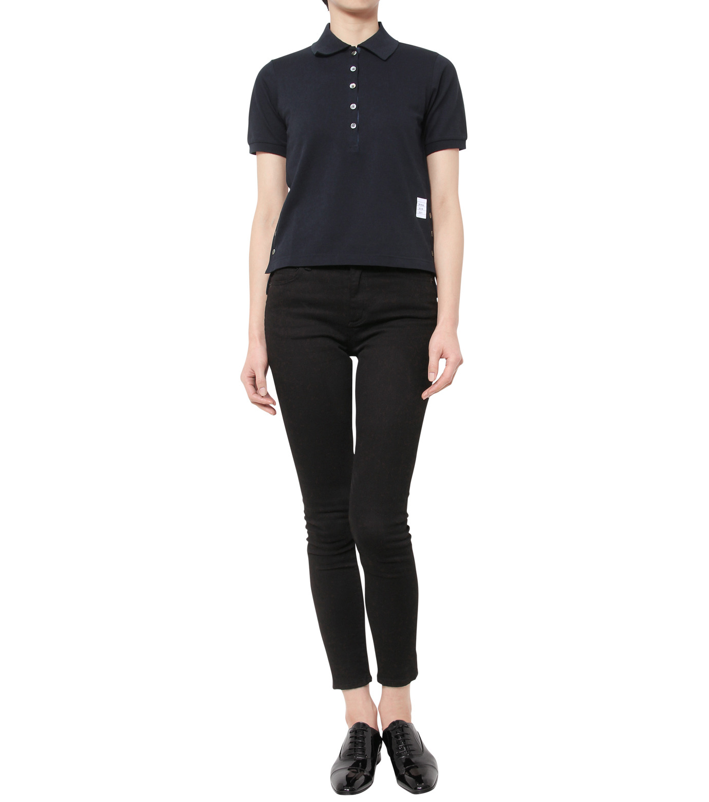 Thom Browne(トムブラウン)のPolo Shirt-NAVY(カットソー/cut and sewn)-FJP002A00047-93 拡大詳細画像3