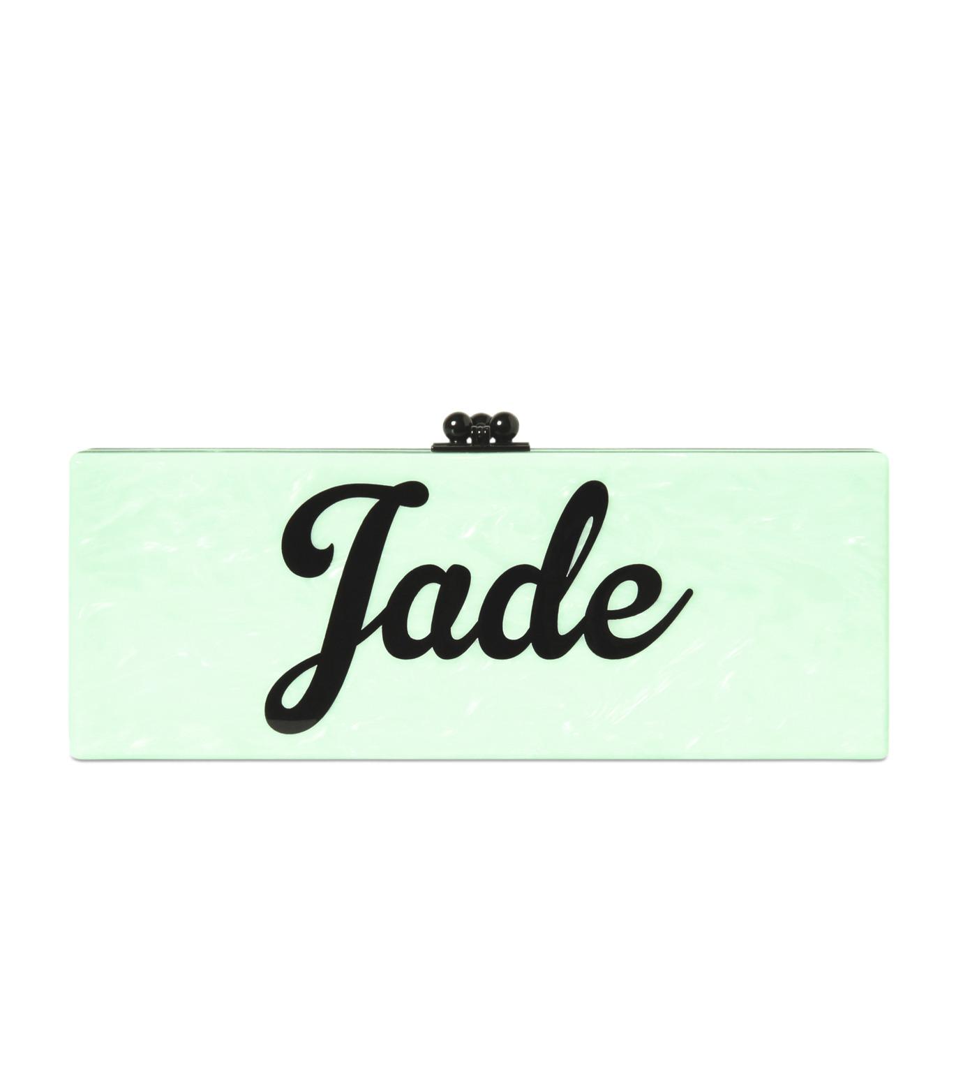 Edie Parker(エディー パーカー)のFlavia Jade-LIGHT GREEN-FL0034-21 拡大詳細画像1