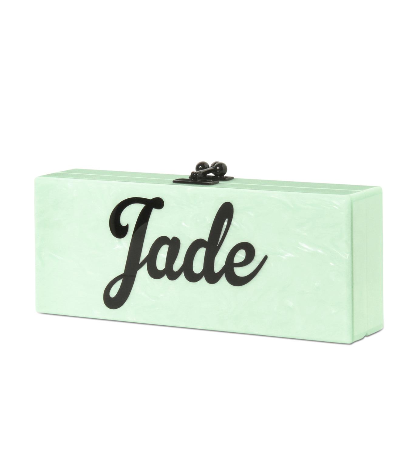 Edie Parker(エディー パーカー)のFlavia Jade-LIGHT GREEN-FL0034-21 拡大詳細画像2