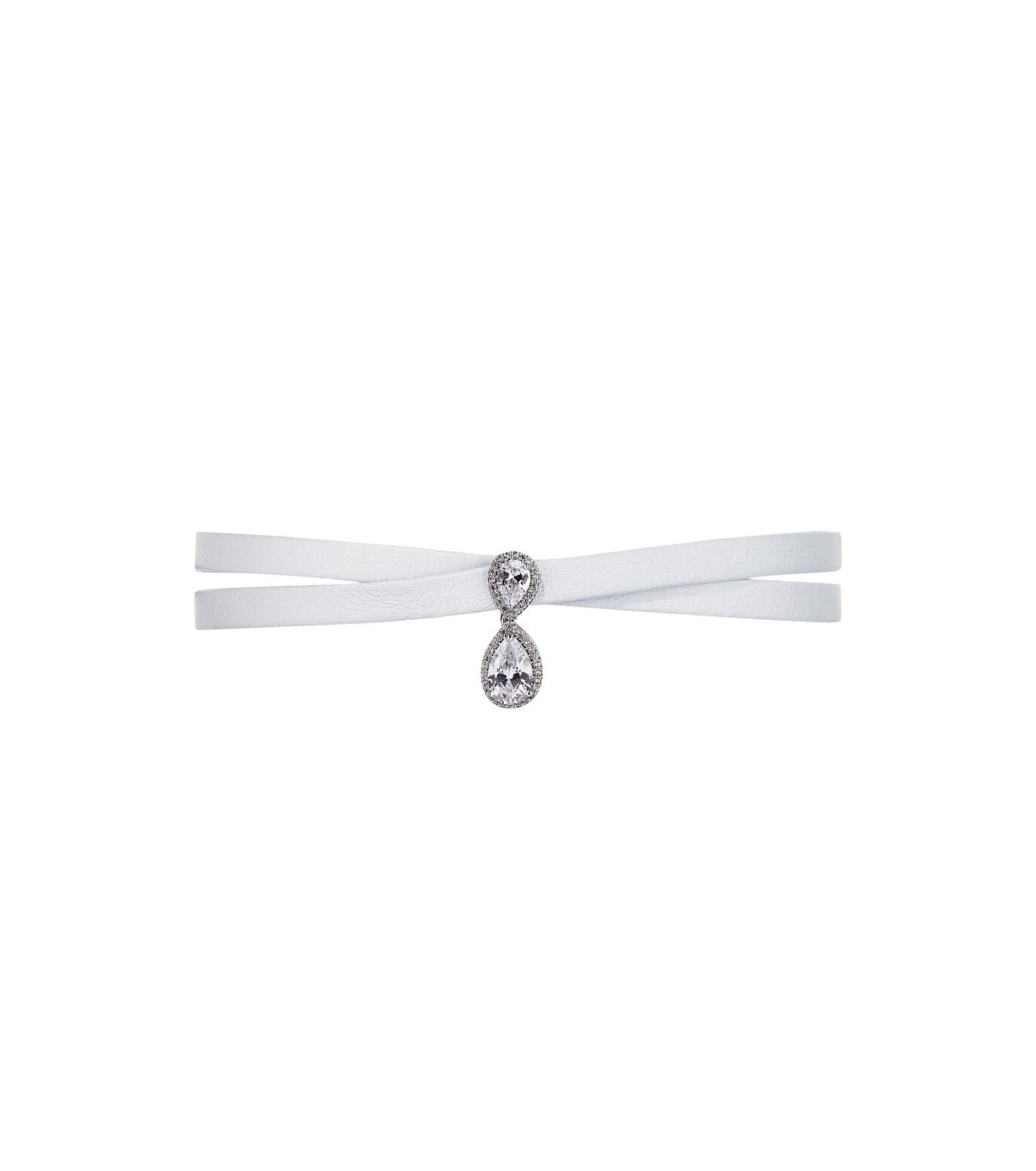Fallon(ファロン)のMonarch Le Petit Drop Wrap Choker-WHITE(ネックレス/necklace)-FN21614-4 拡大詳細画像1