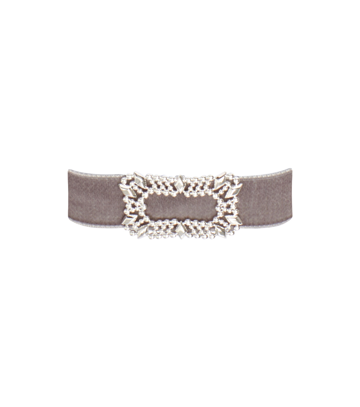 Fallon(ファロン)のToria Buckle Velvet Choker-GRAY(ネックレス/necklace)-FN21666-11 拡大詳細画像1