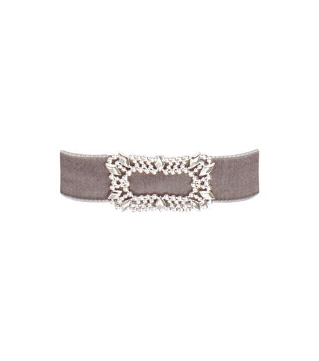 Fallon(ファロン)のToria Buckle Velvet Choker-GRAY(ネックレス/necklace)-FN21666-11 詳細画像1