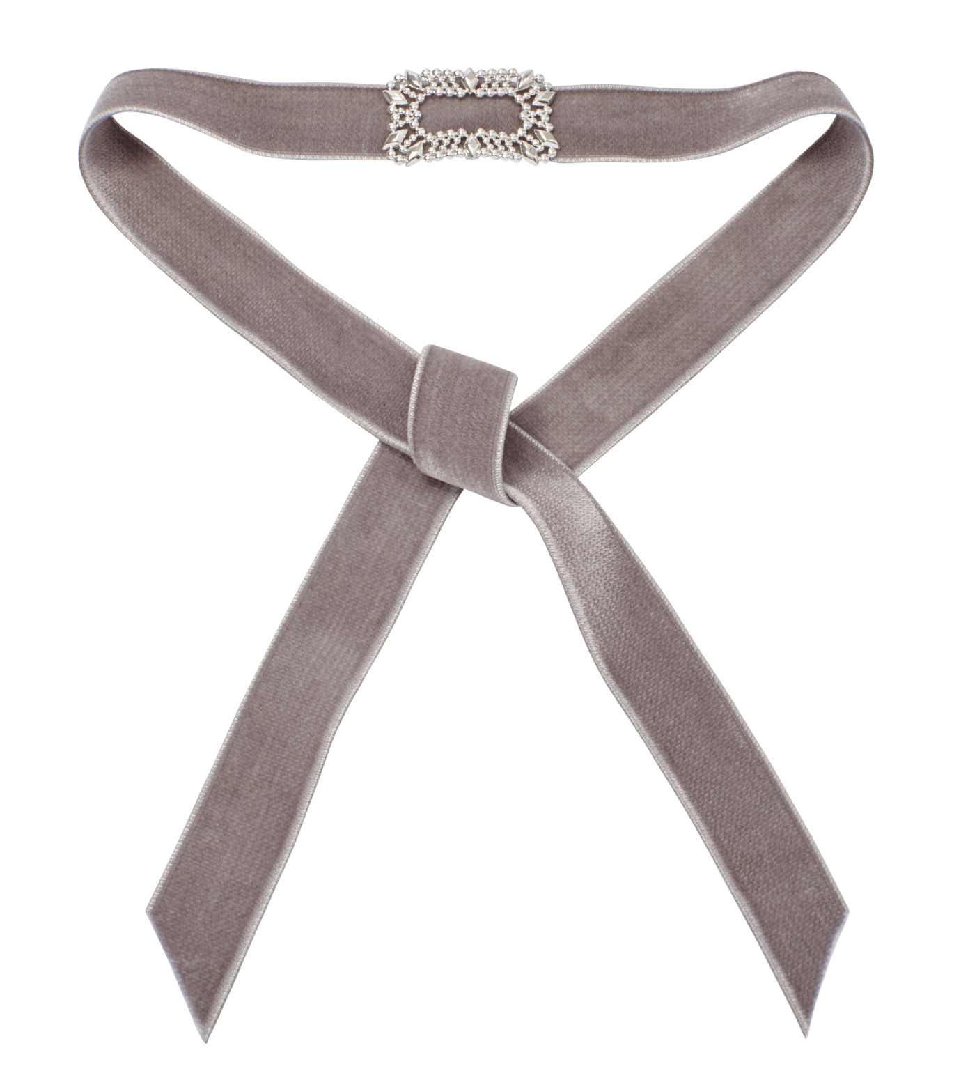 Fallon(ファロン)のToria Buckle Velvet Choker-GRAY(ネックレス/necklace)-FN21666-11 拡大詳細画像2