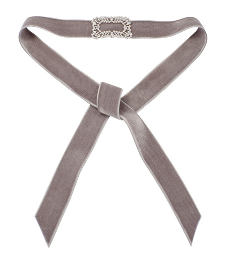 Fallon(ファロン)のToria Buckle Velvet Choker-GRAY(ネックレス/necklace)-FN21666-11 詳細画像2