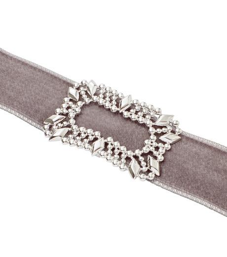 Fallon(ファロン)のToria Buckle Velvet Choker-GRAY(ネックレス/necklace)-FN21666-11 詳細画像3