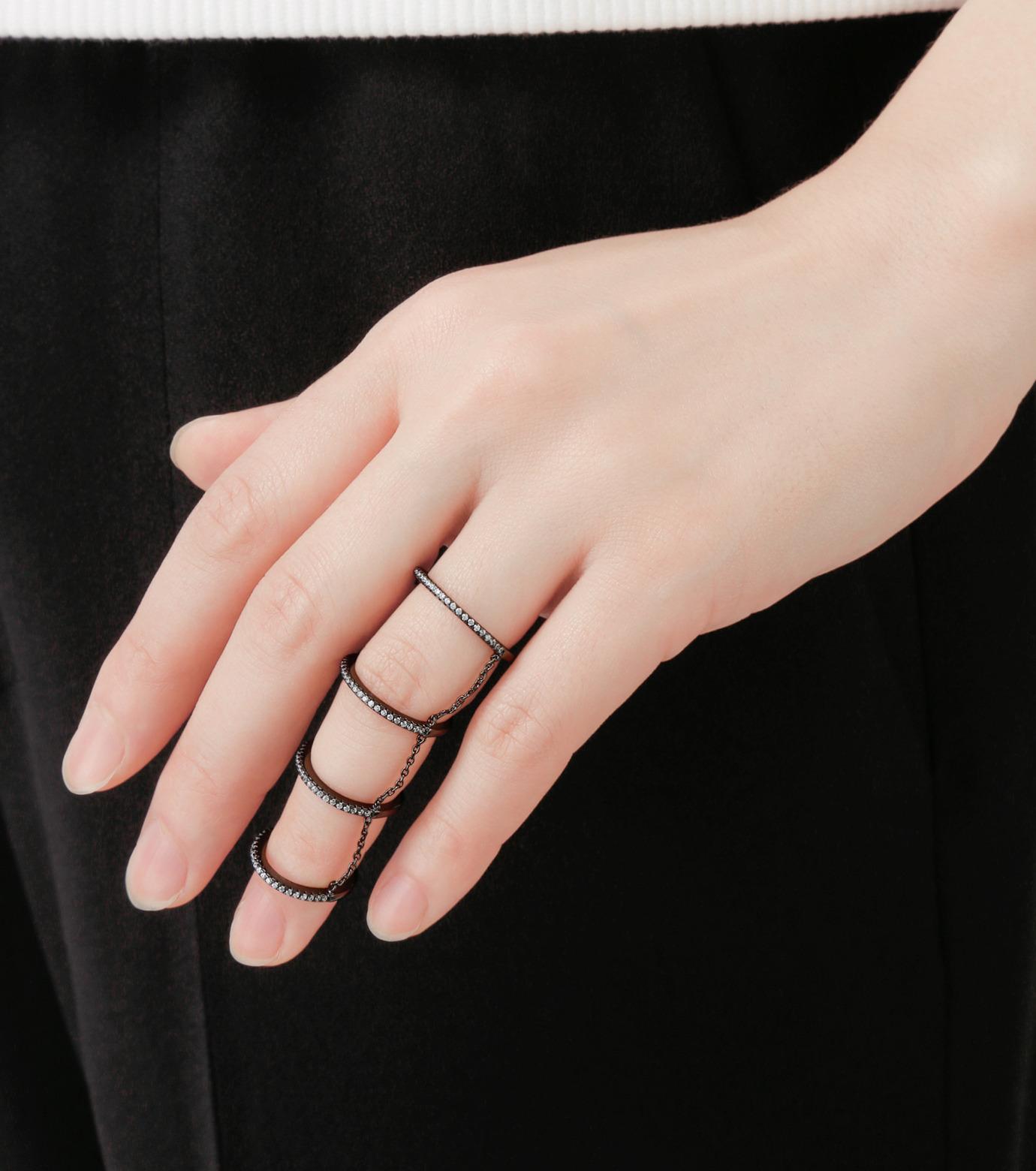 Fallon(ファロン)の4 Tier Pave Slice Rings-GUNMETAL(リング/ring)-FR11515-6 拡大詳細画像4