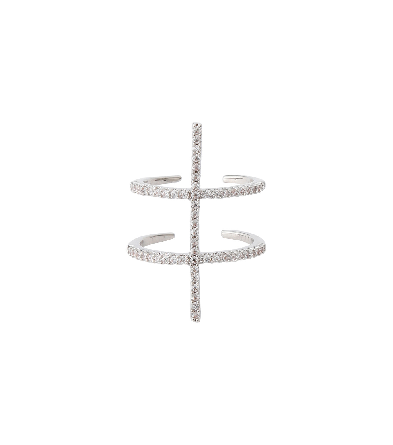 Fallon(ファロン)のPave Ladder Ring-SILVER(リング/ring)-FR21550-1 拡大詳細画像1