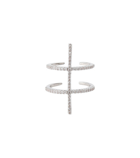 Fallon(ファロン)のPave Ladder Ring-SILVER(リング/ring)-FR21550-1 詳細画像1