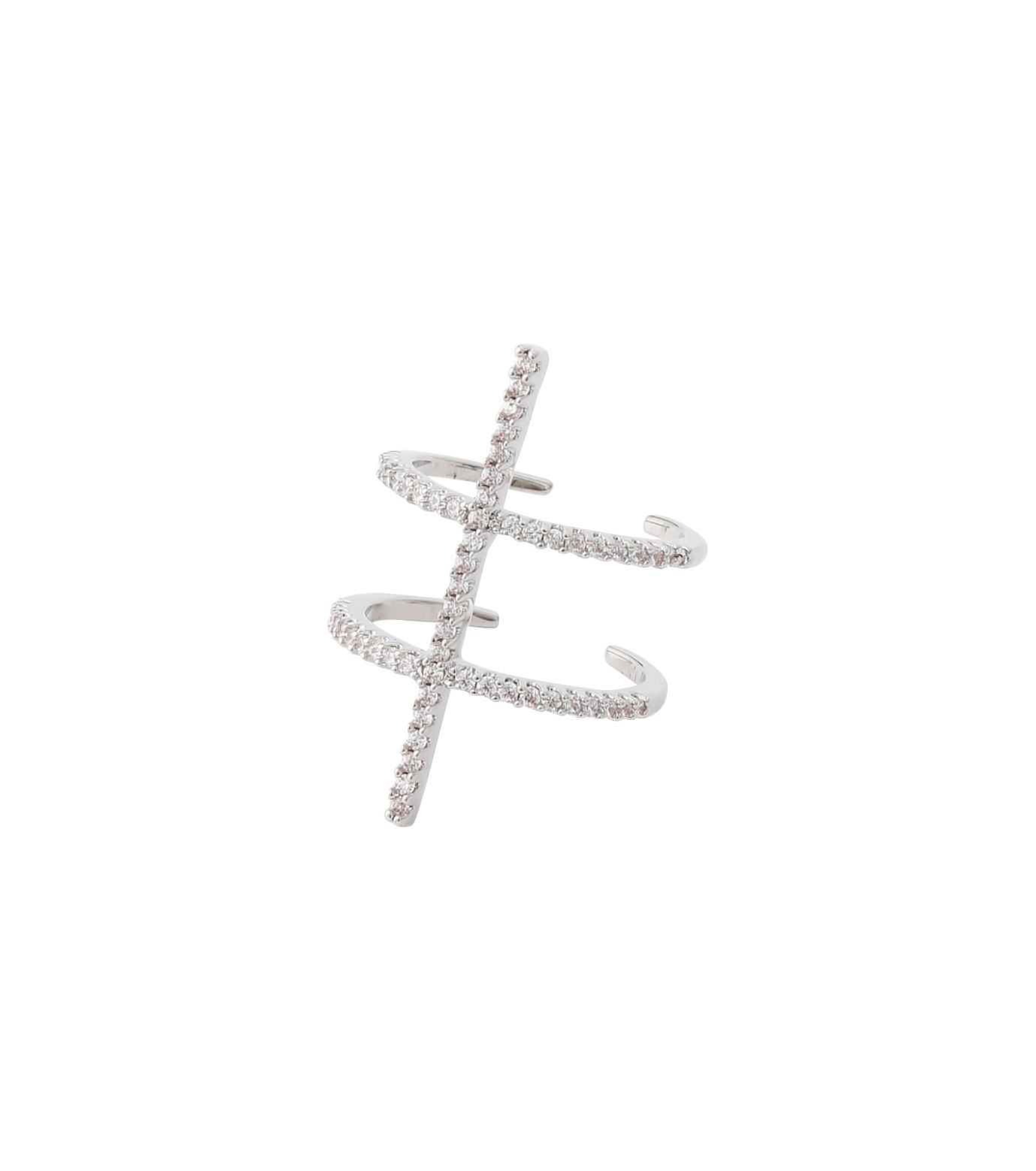 Fallon(ファロン)のPave Ladder Ring-SILVER(リング/ring)-FR21550-1 拡大詳細画像2