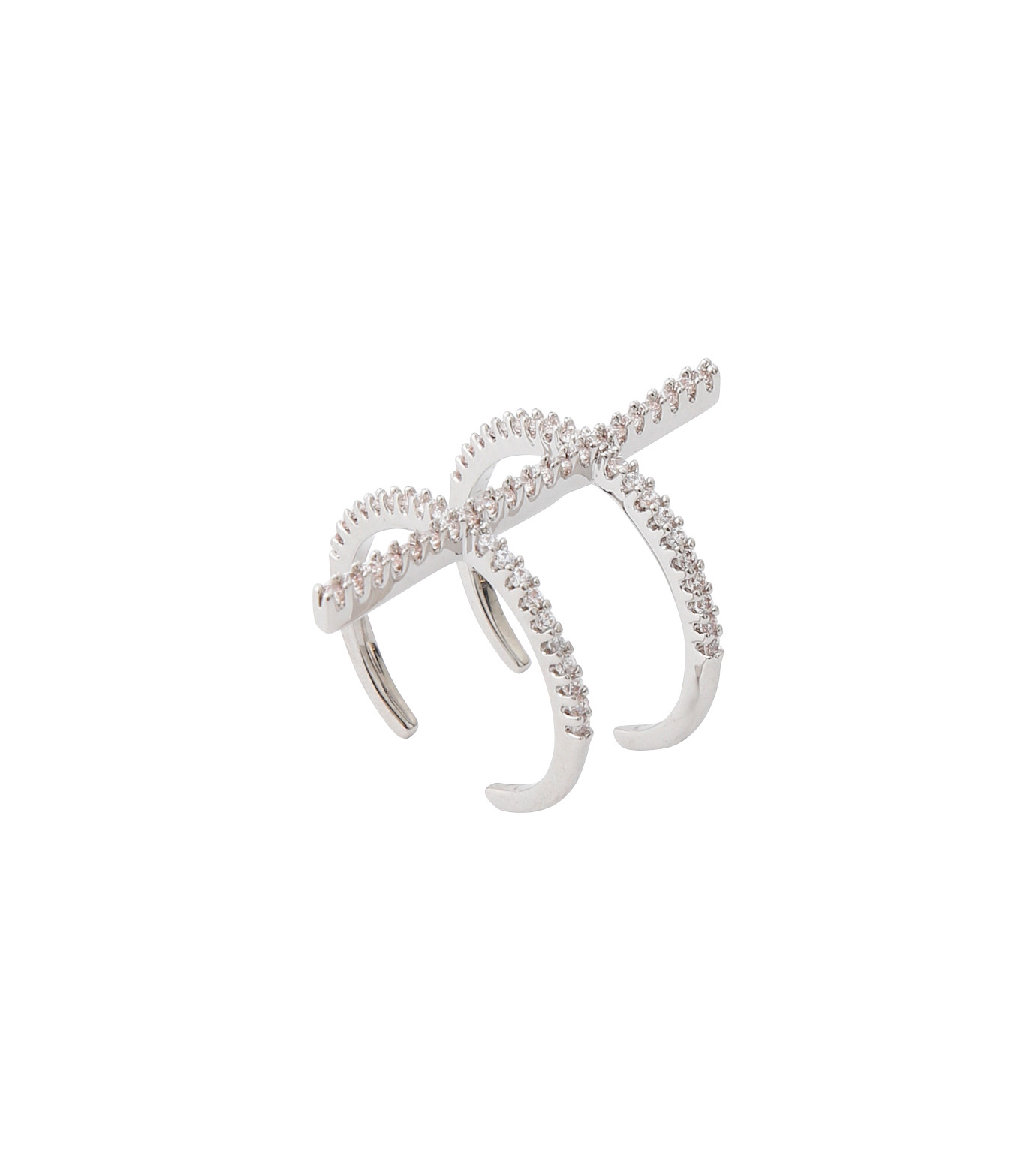 Fallon(ファロン)のPave Ladder Ring-SILVER(リング/ring)-FR21550-1 拡大詳細画像3